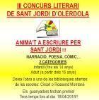 El 3r Concurs Literari d'Olèrdola obre participacions